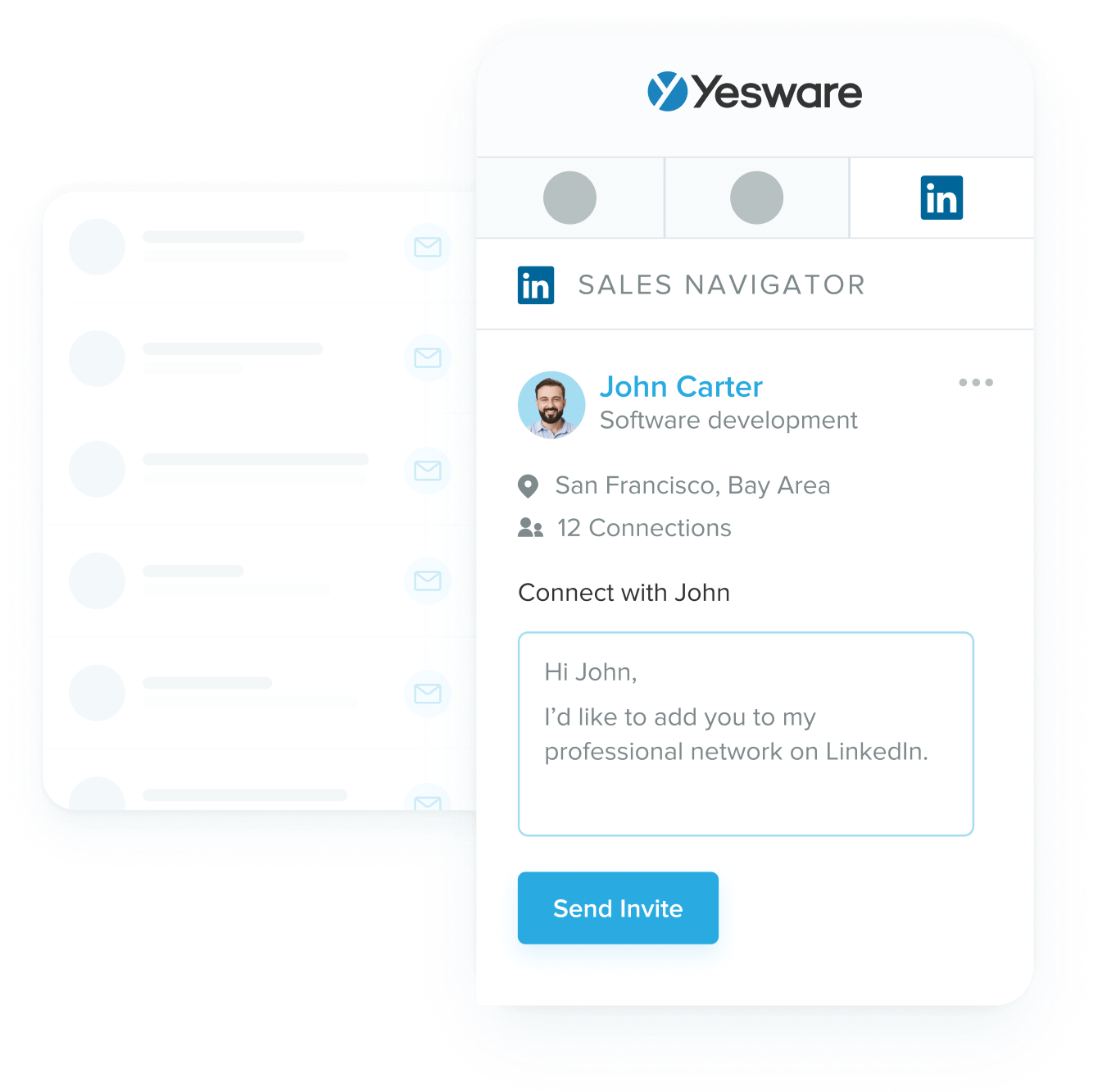 Yesware Linkedin Integration for Gmail
