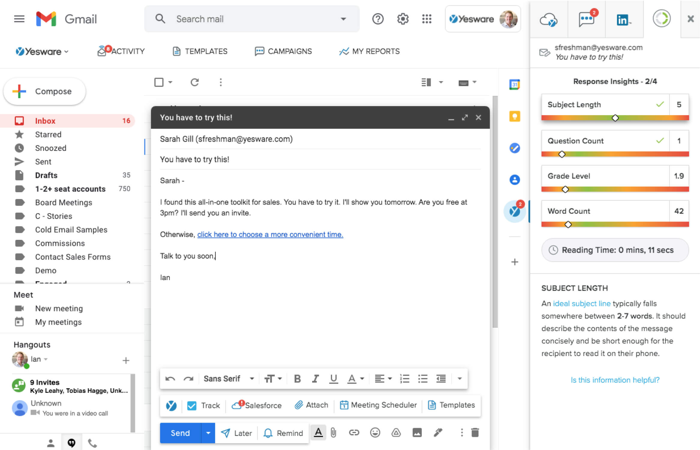 Yesware for Gmail