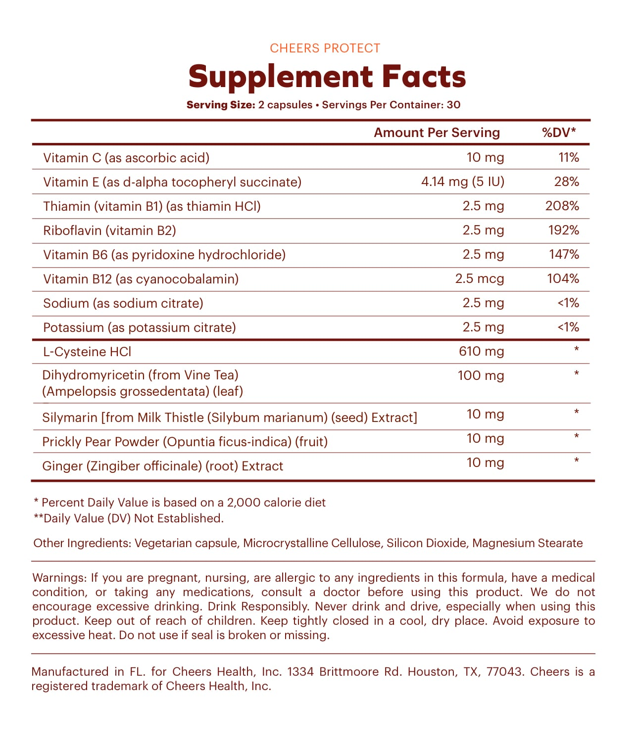 Supplement facts Protect