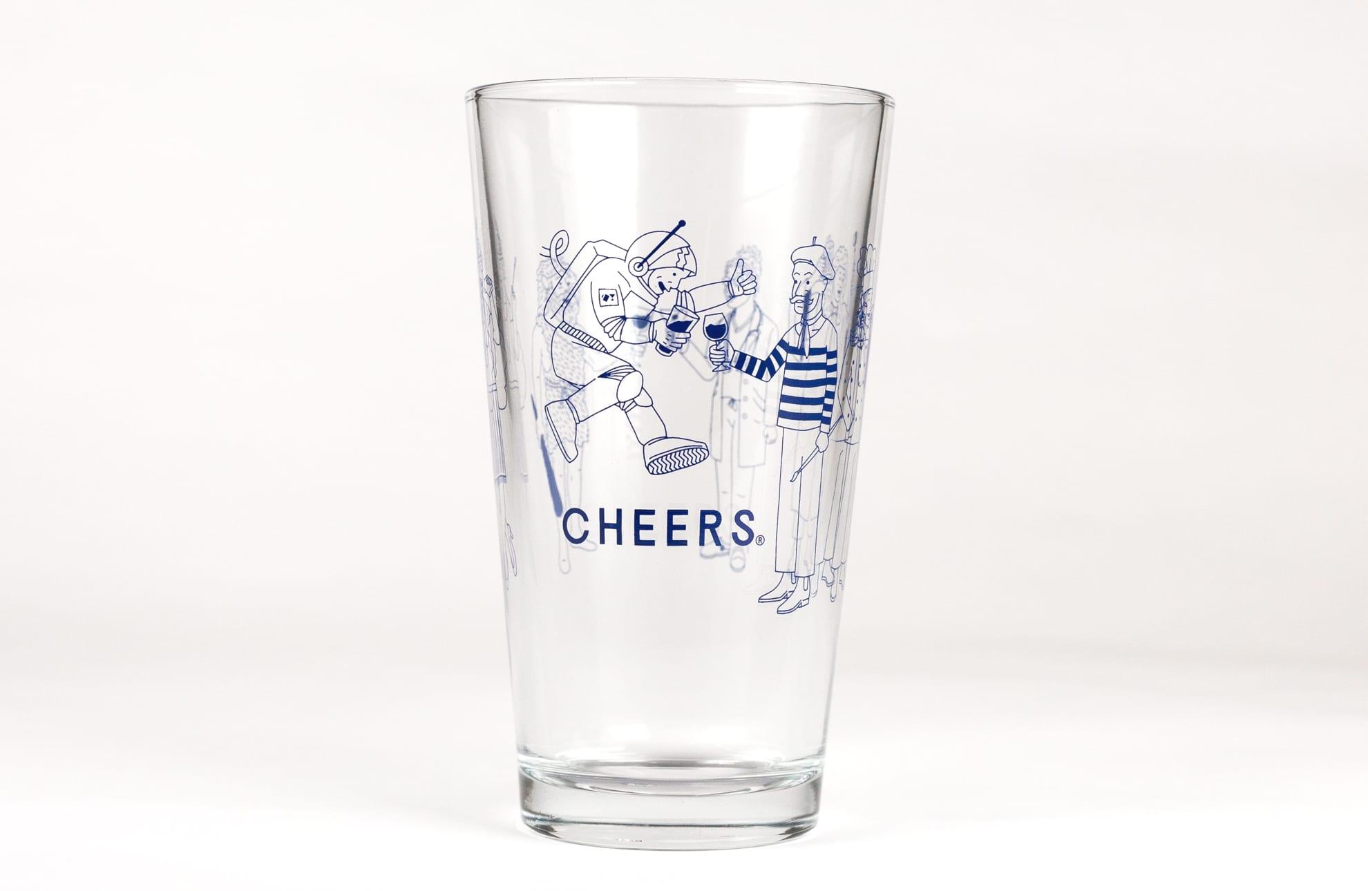 Cheers Pint Glass