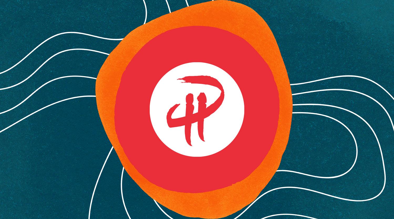 PartnerHero logo on blue background