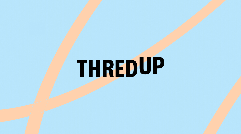 thredup logo with blue background