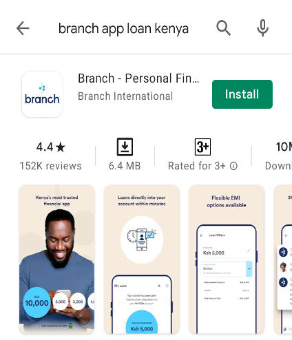Find Branch App Loan Kenya on Google Play Store