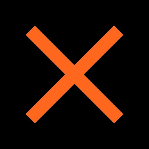 Click X to close