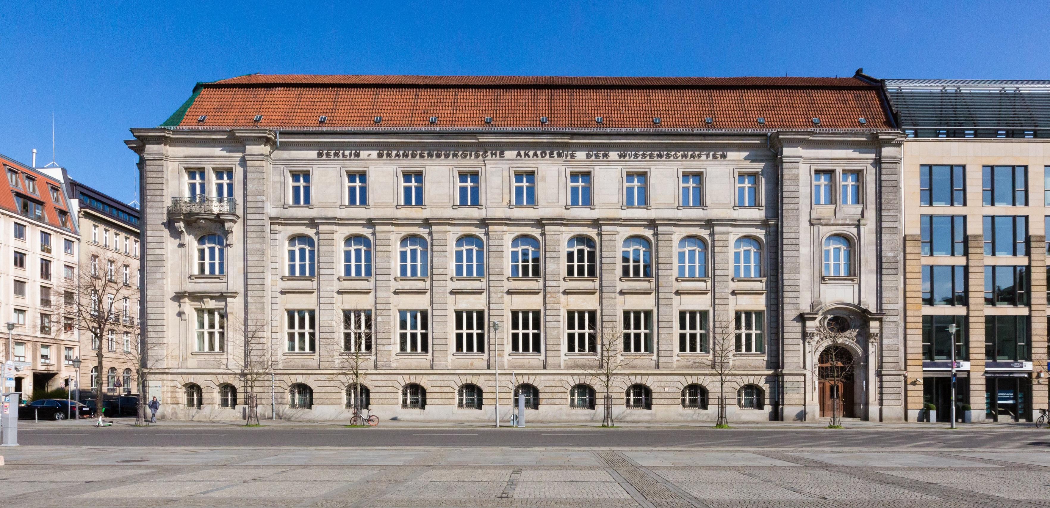 Berlin-Brandenburgische Akademie der Wissenschaften Ansicht Hauptgebäude