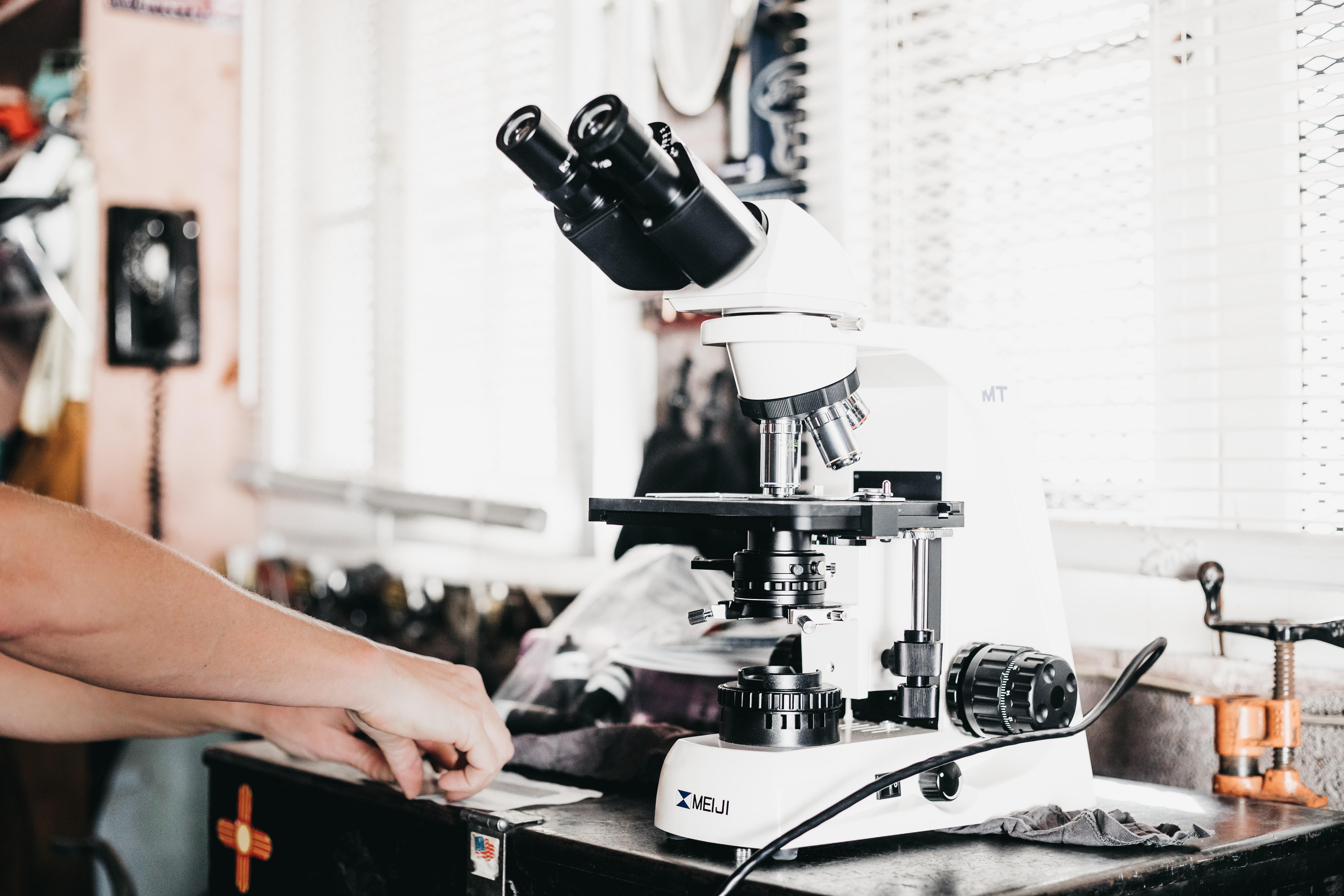 Foto von Mikroskop