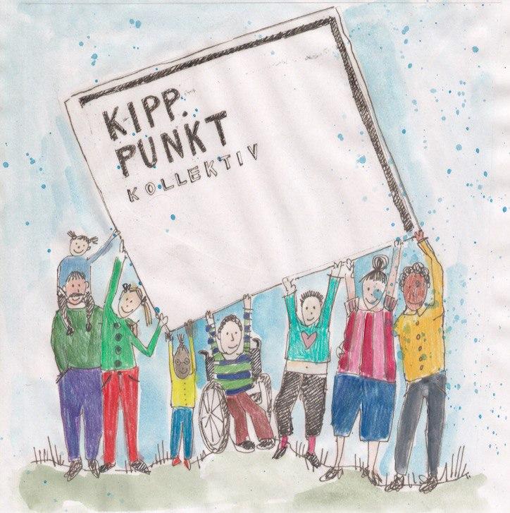 Zeichnung von einer Gruppe von Menschen