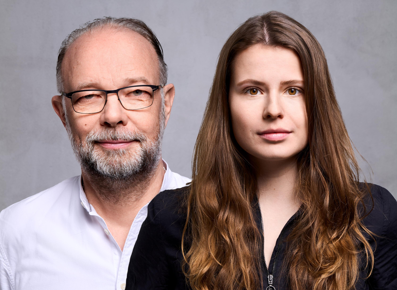 Foto von Luisa Neubauer und Bernd Ulrich