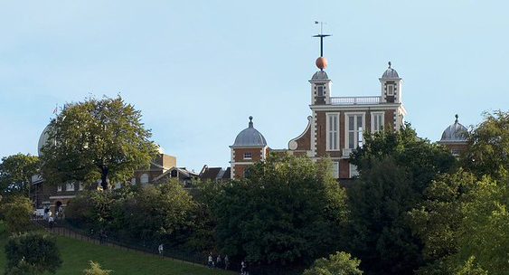 A view of Royal Observatory Greenwich and park.