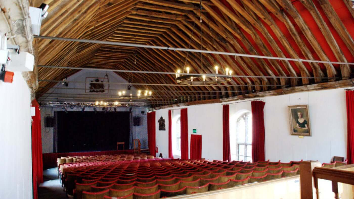 View of the inside of St George's Guildhall theatre.