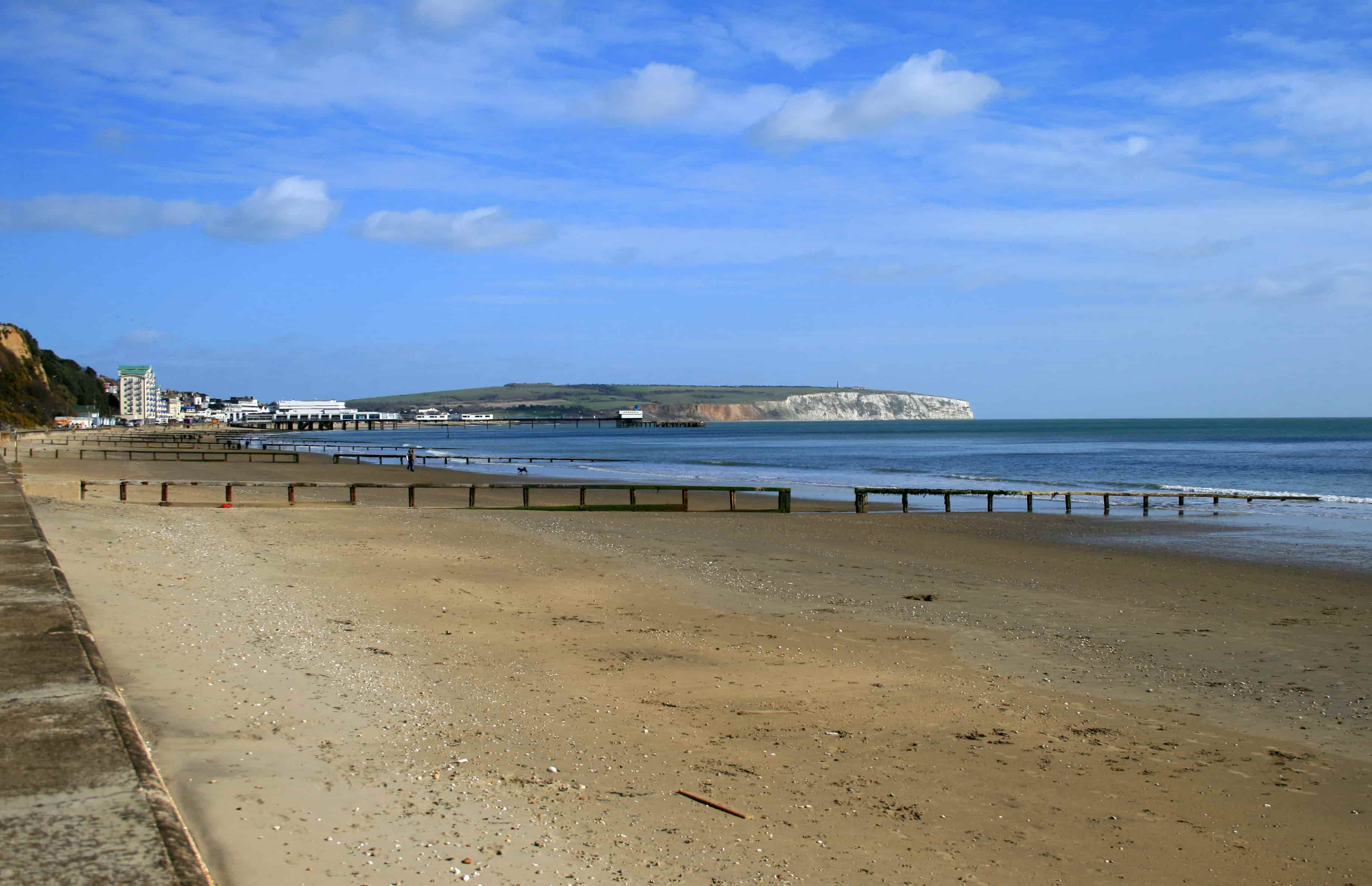Some of the length of Sandown Bay.