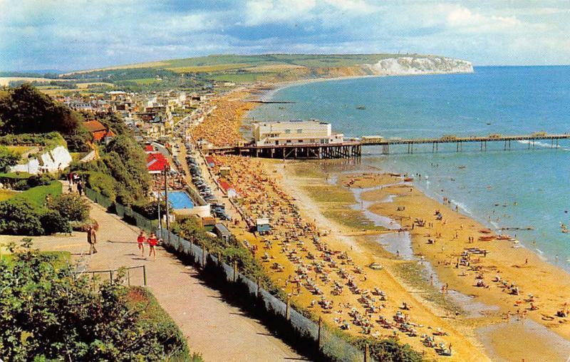 The Sandown Beach and Promenade, as well as the surrounding, stunning Isle of Wight scenery.