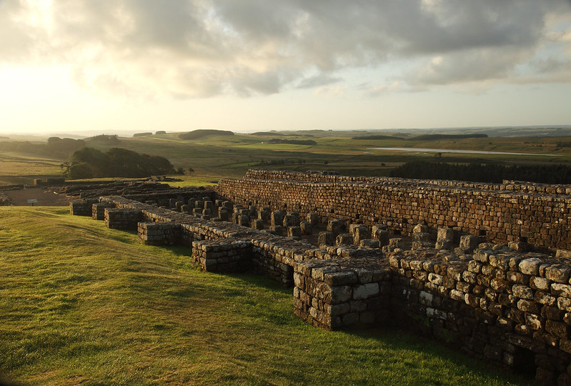 Housesteads Roman Fort near Hadrian's Wall, the most complete Roman Fort in England.