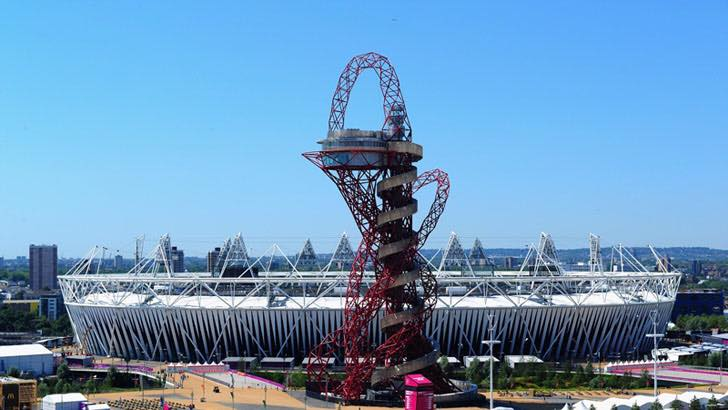 Queen Elizabeth Olympic Park and The Slide.