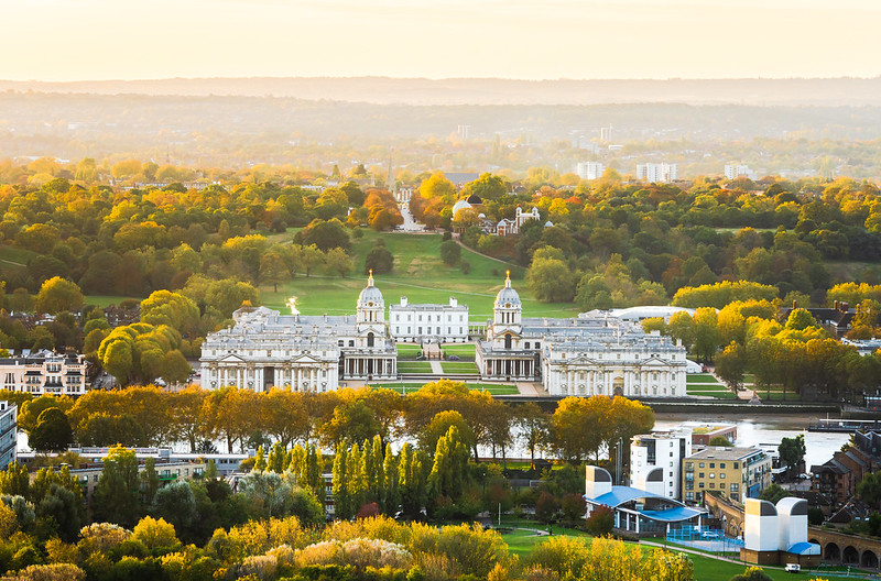 Aerial view of Greenwich Park.