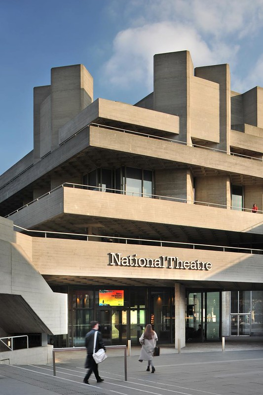 Outside perspective of National Theatre building.