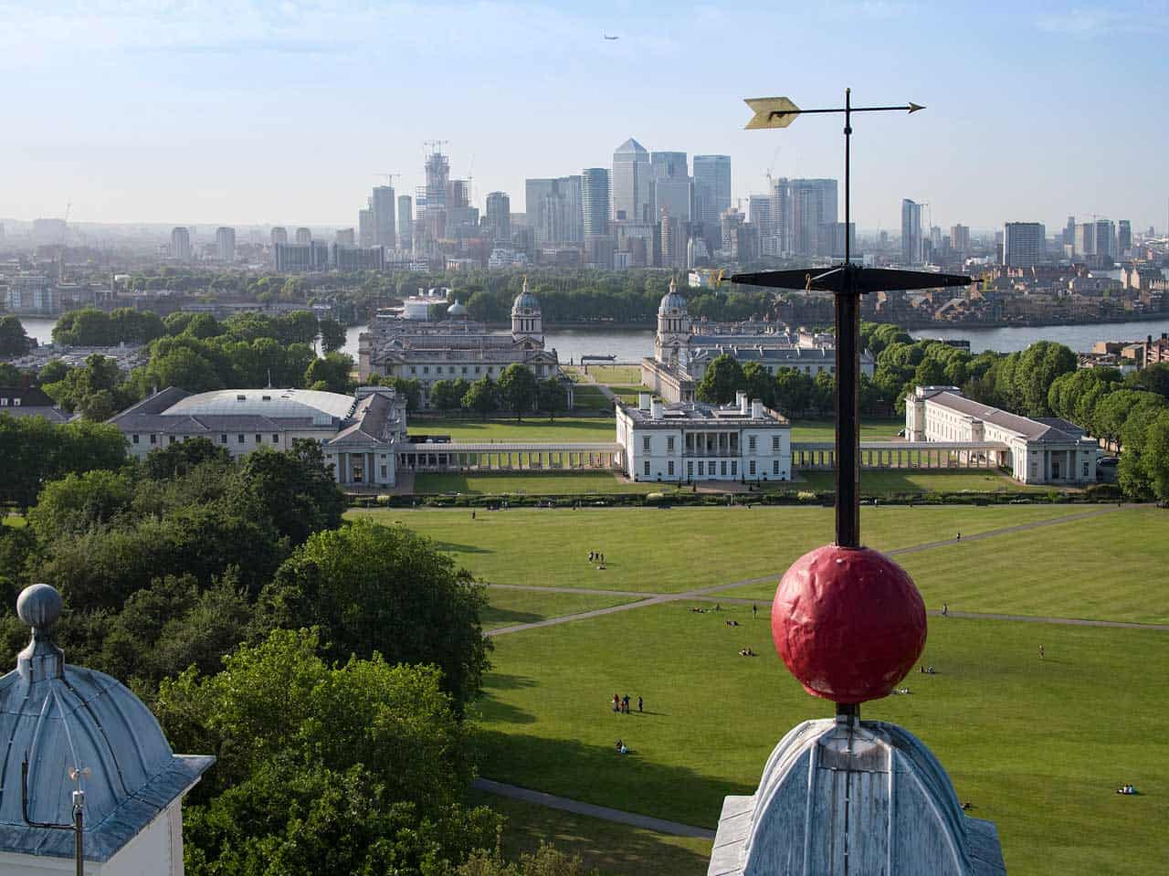 A view over Greenwich from the Royal Observatory.