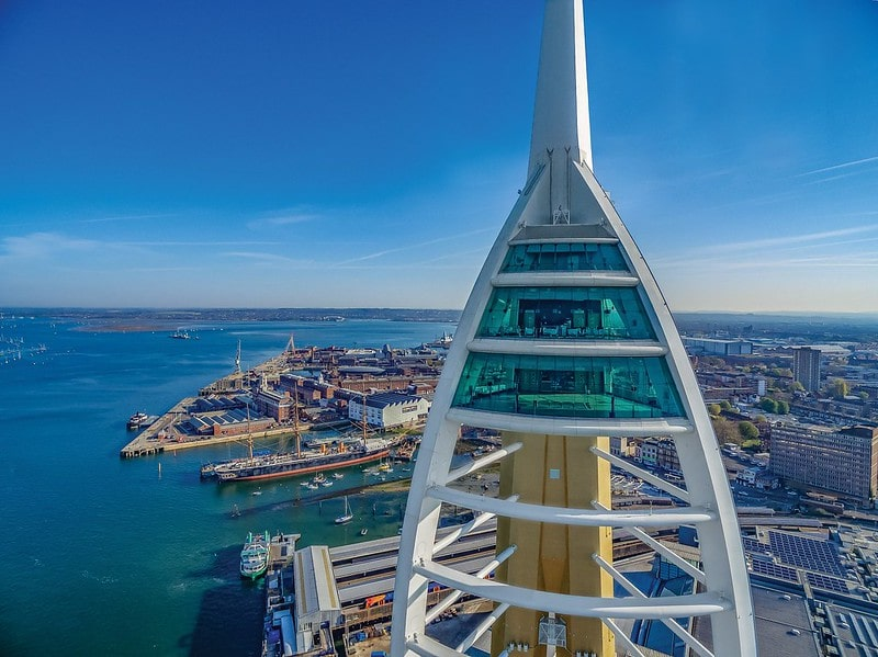 The Spinnaker Tower viewing decks offer views stretching up 23 miles on a clear day.