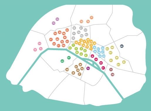 Paris Carte des 80′ Bars à cocktails Printemps/été 2014