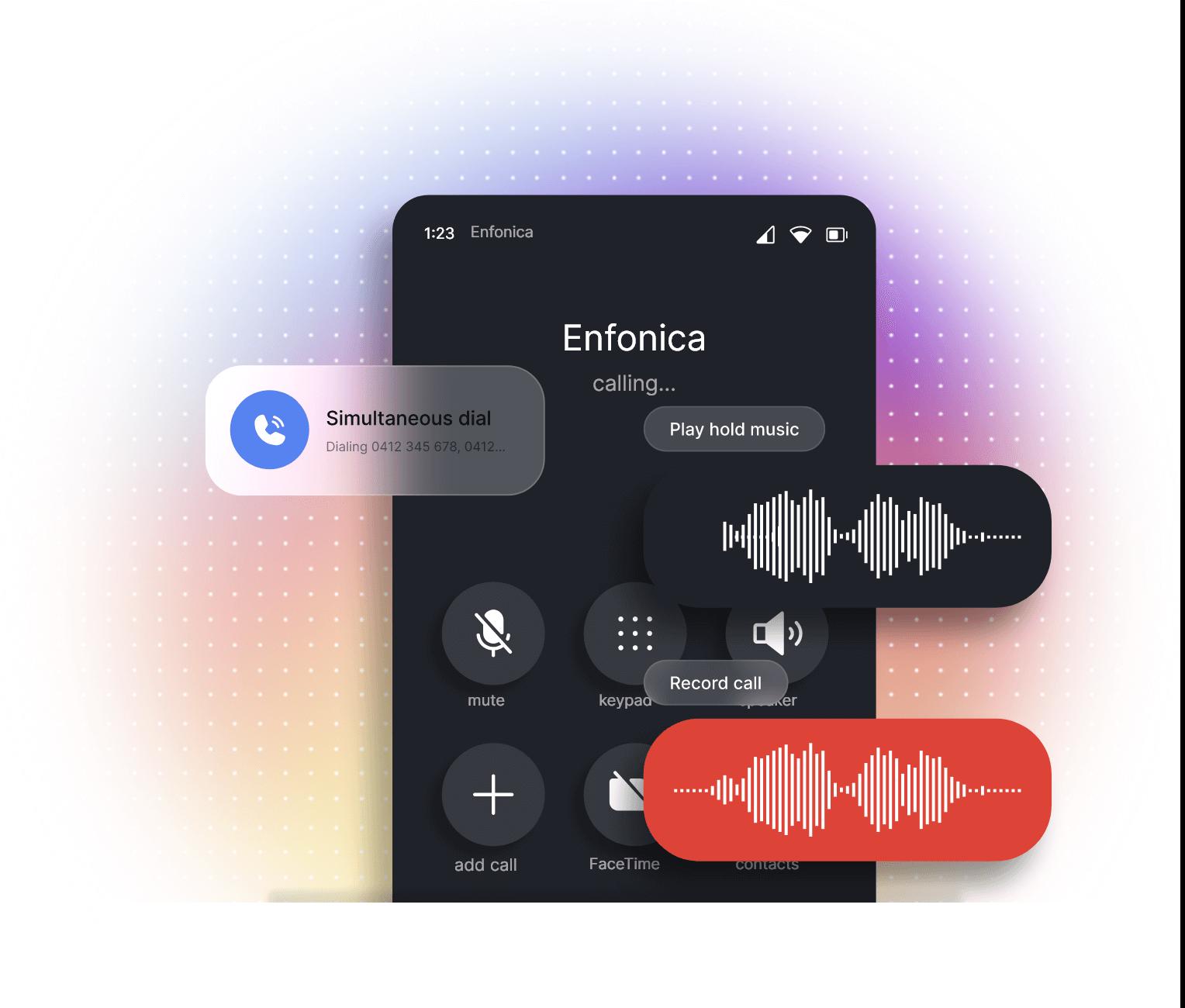 Enfonica Cloud Voice user interface illustration