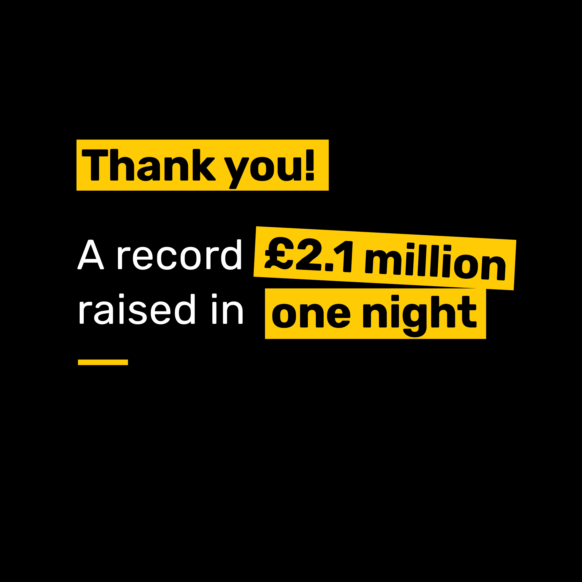 Record-breaking charity appeal raises £2.1 million in one night
