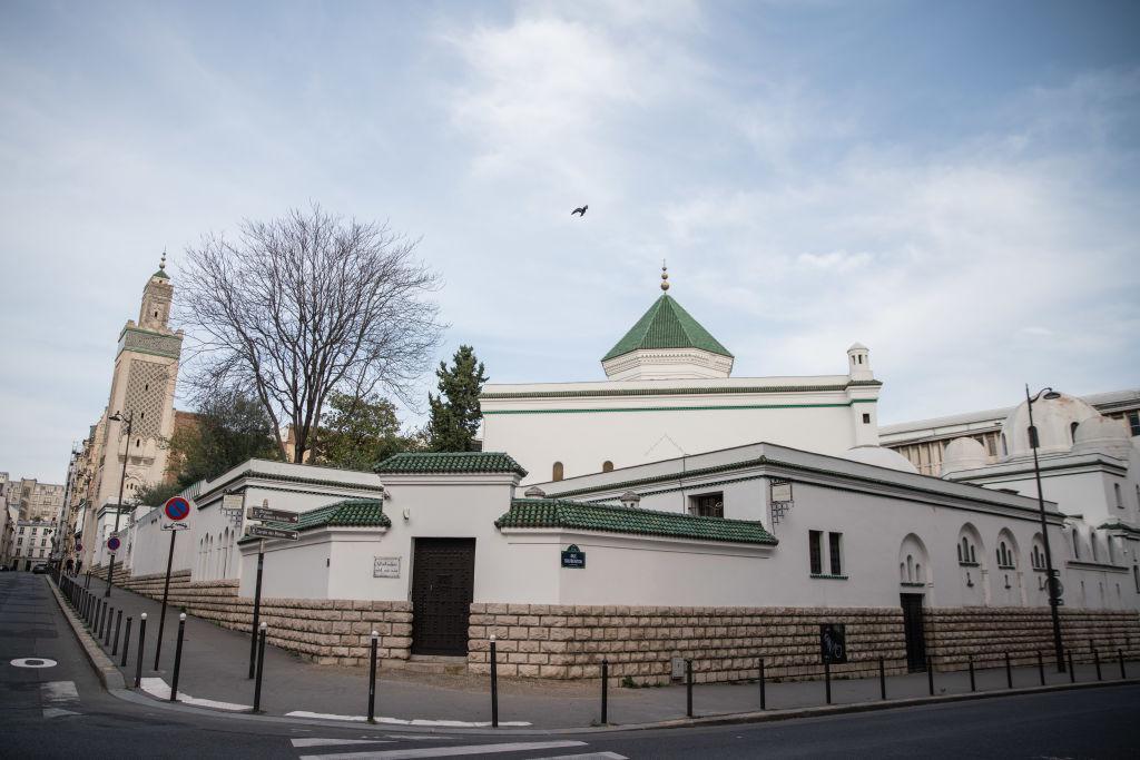 The vandalised Al Ghazali Institute in France