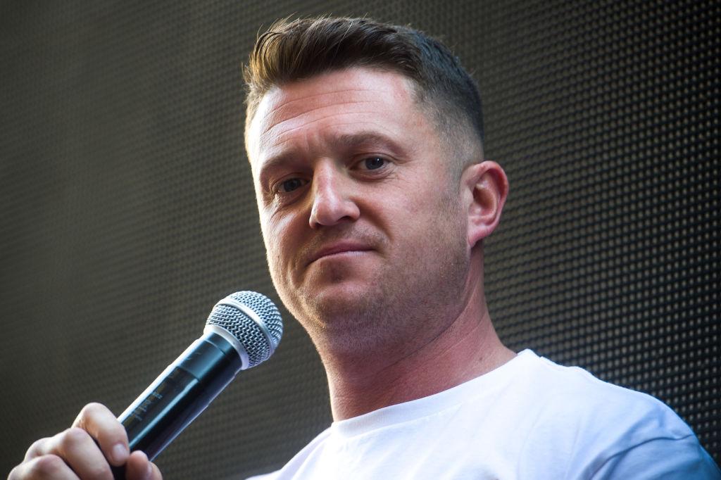 Anti-Islam activist Tommy Robinson - real name Stephen Yaxley-Lennon
