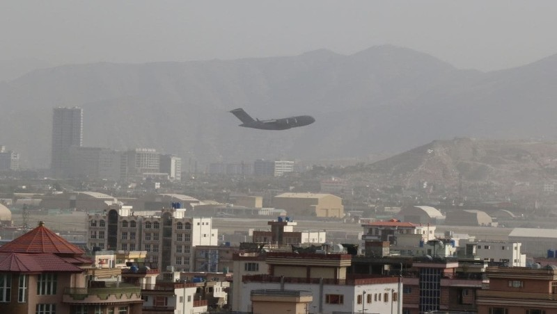 T-shirts online depicting Afghans falling to their deaths via a military plane have been sold online