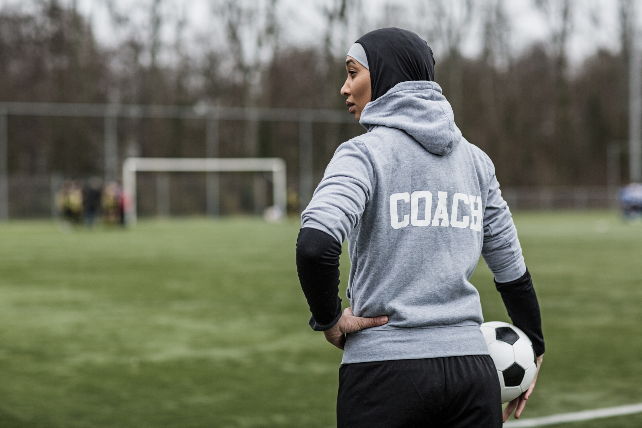 England Lionesses visit Muslimahs to encourage girls to play football