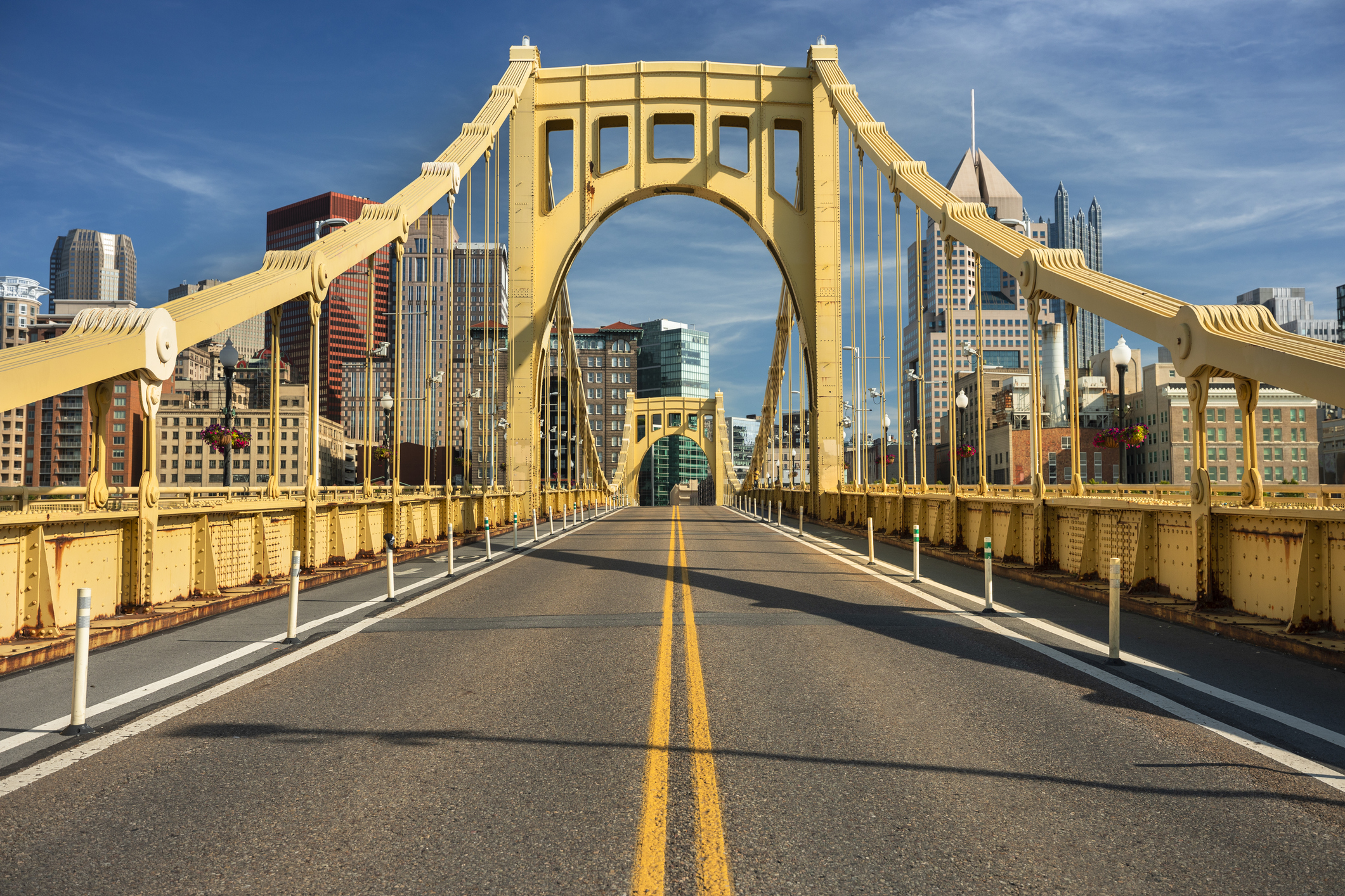 """Artist Ebtehal Badawi has been attracting lots of attention with her """"Pittsburgh Builds Bridges"""" artwork"""