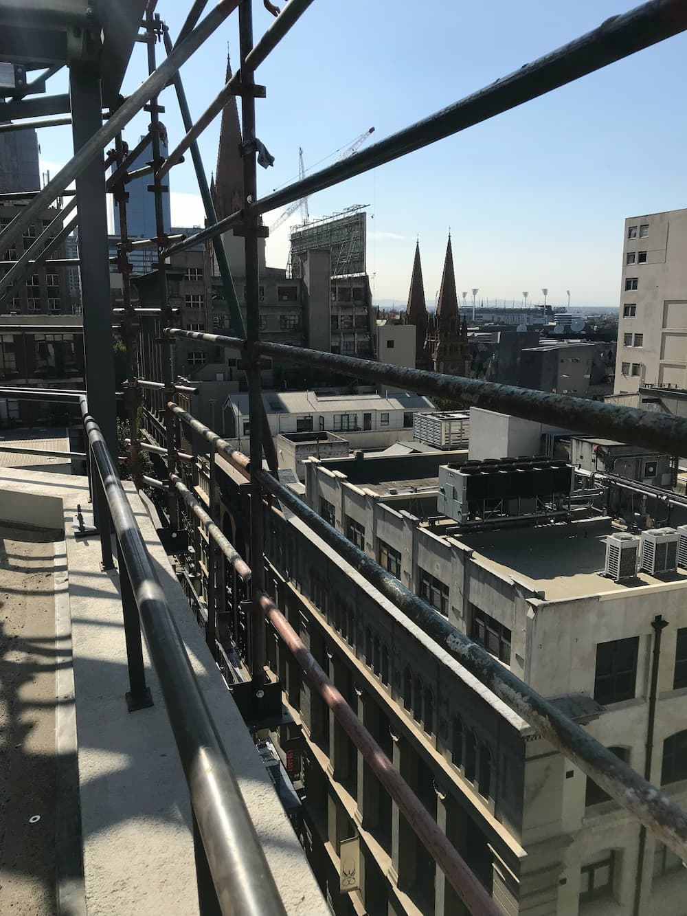 commercial scaffolding high walkway Melbourne