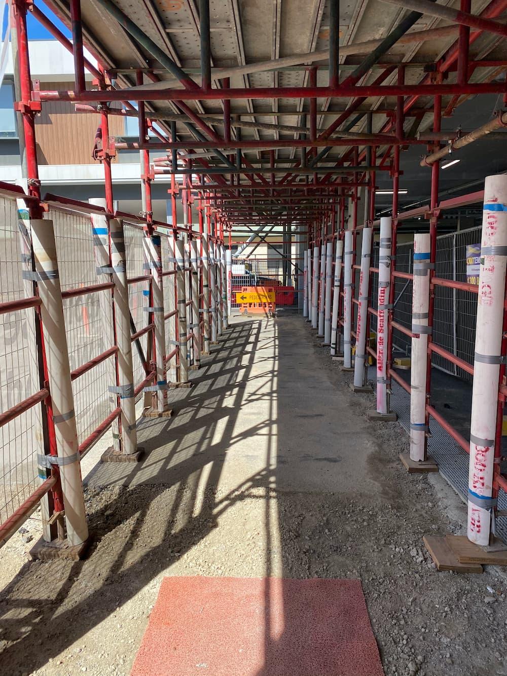 commercial scaffolding walkway