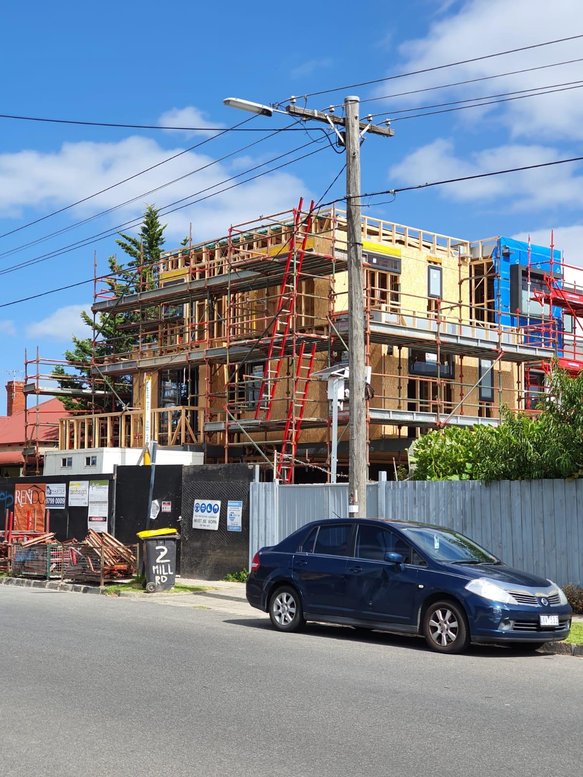 Residential multi storey scaffolding