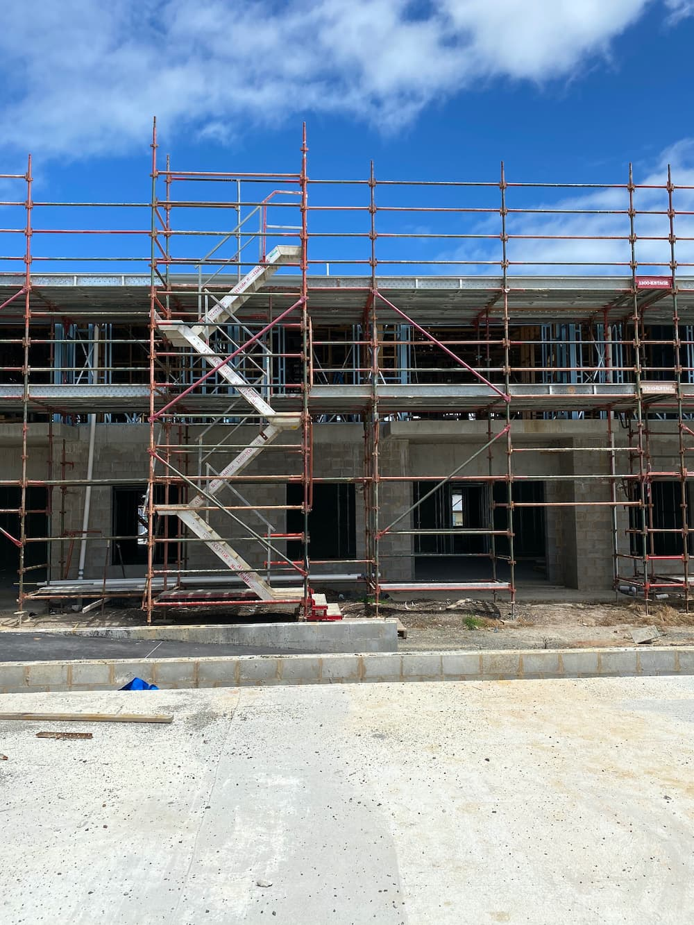 Stair Access scaffolding on job site