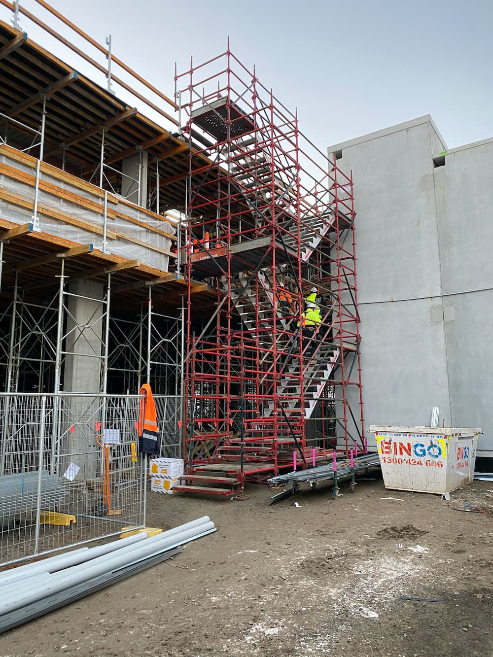 commercial Stair Access scaffolding