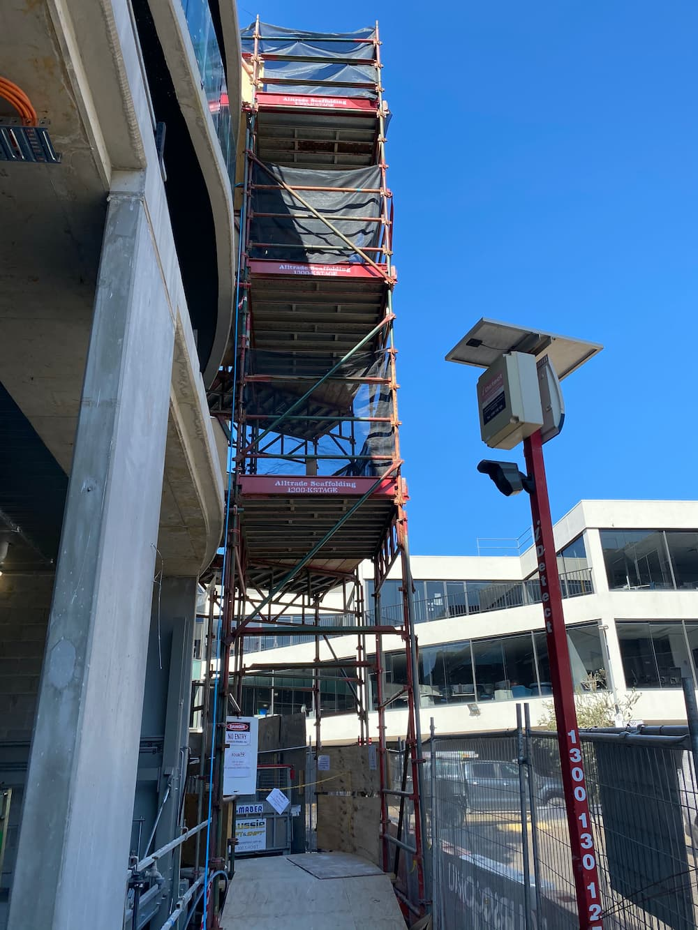 commercial birdcage scaffolding at height
