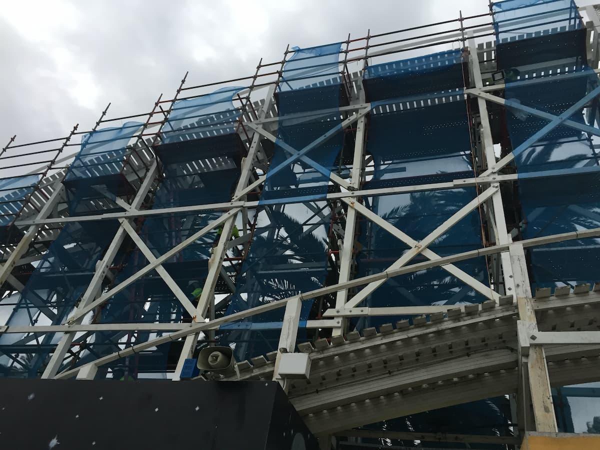 Scaffolding at Luna Park Melbourne
