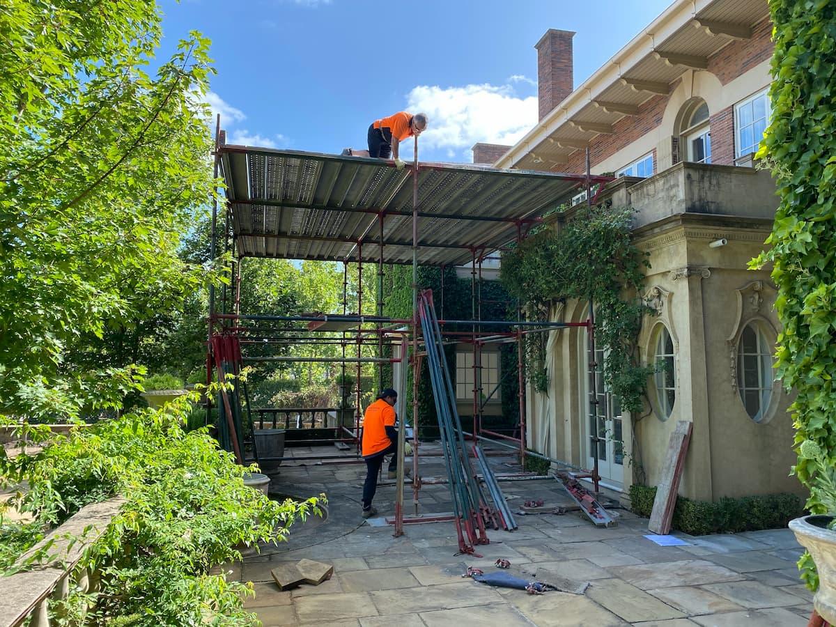 platform scaffolding at residence