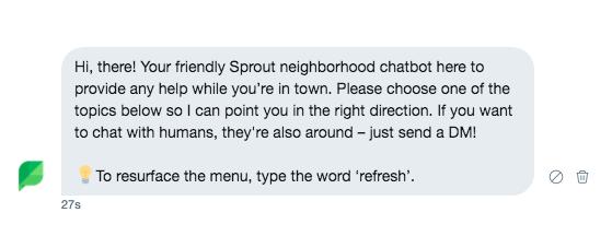 chatbot emoji example