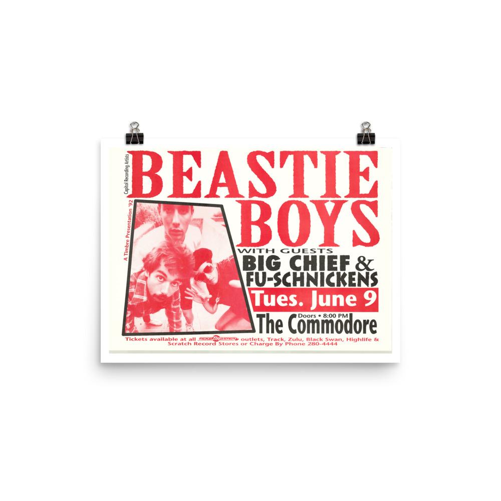 Beastie Boys Poster - Vancouver 1992