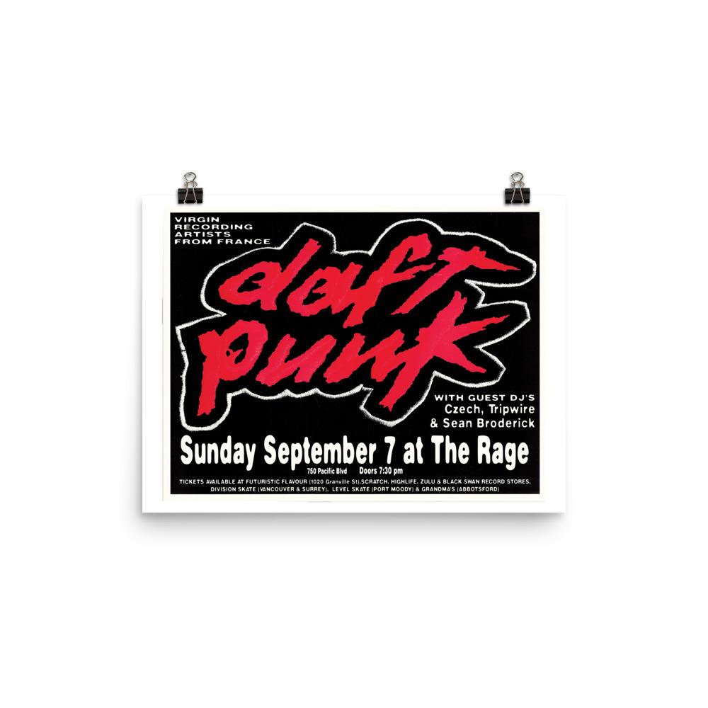 Daft Punk Poster - Vancouver 1997