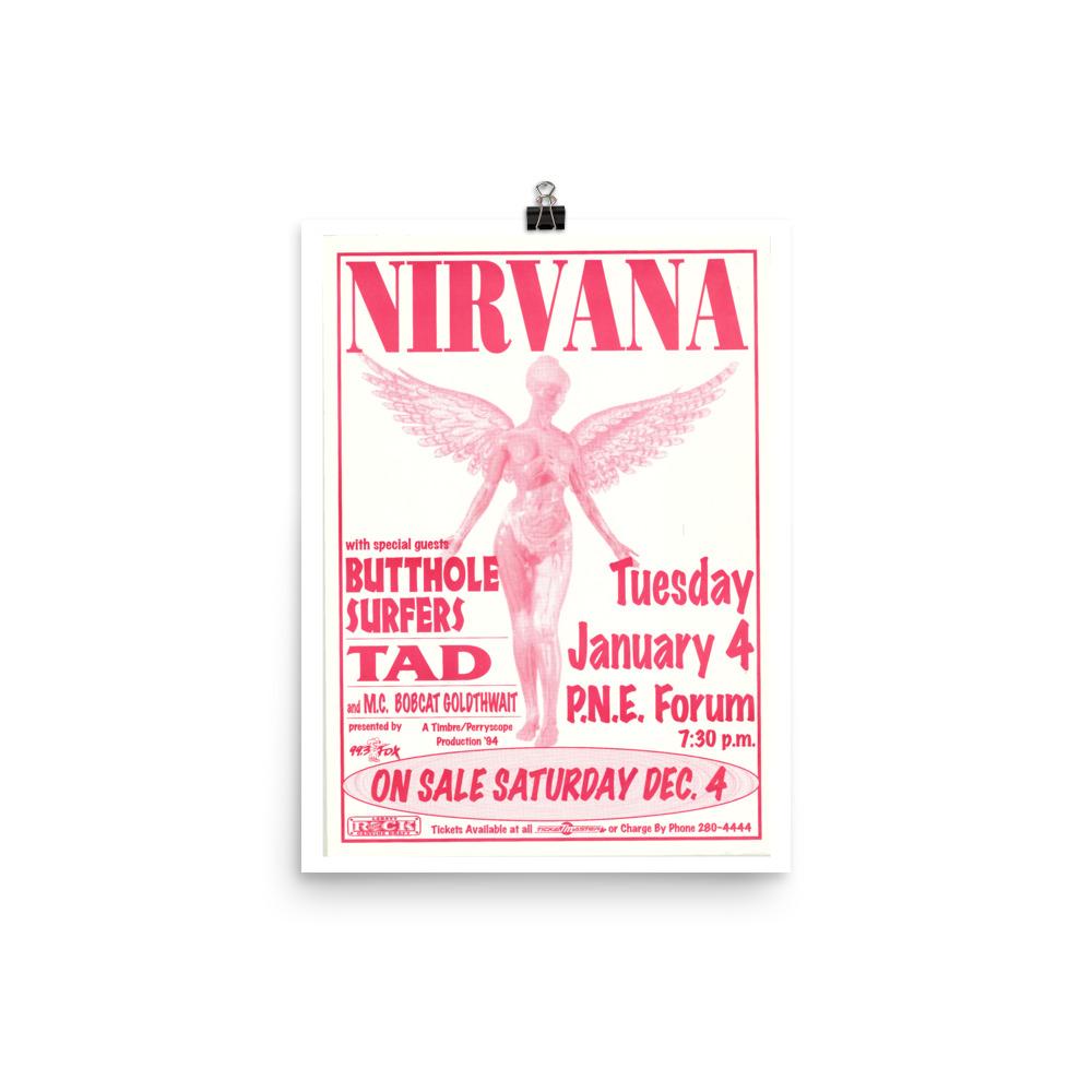 Nirvana Poster - Vancouver 1994
