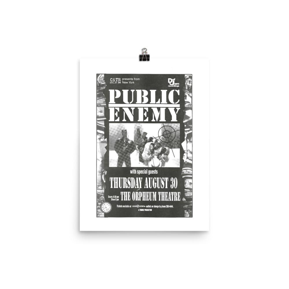 Public Enemy Poster - Vancouver 1990