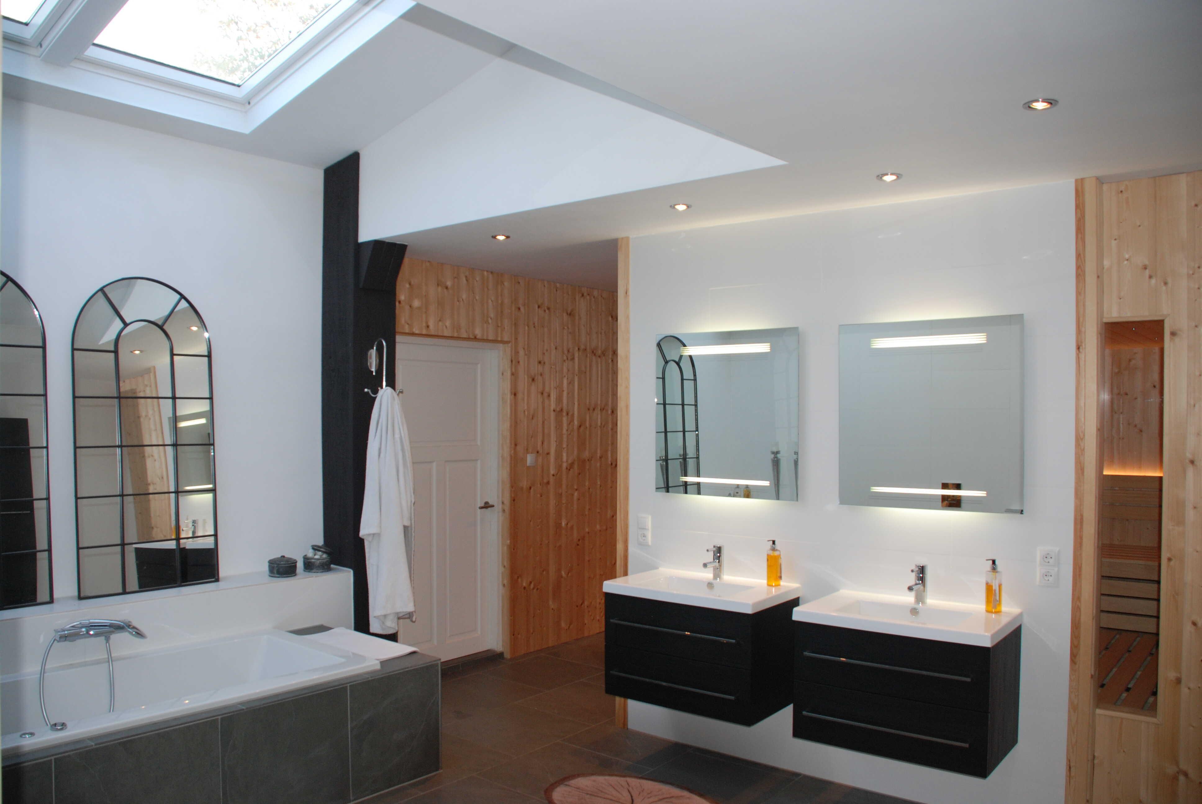 De badkamer na verbouwing