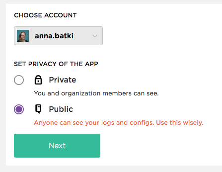 choose between public and private