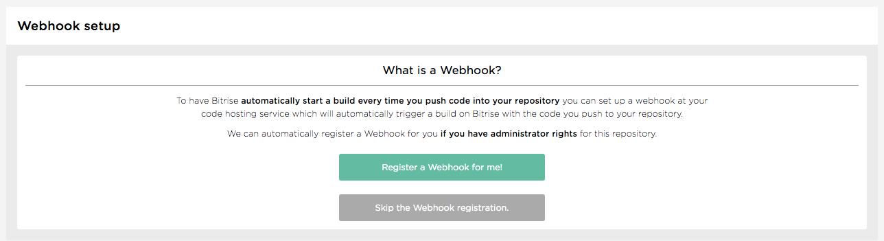 Webhook setup