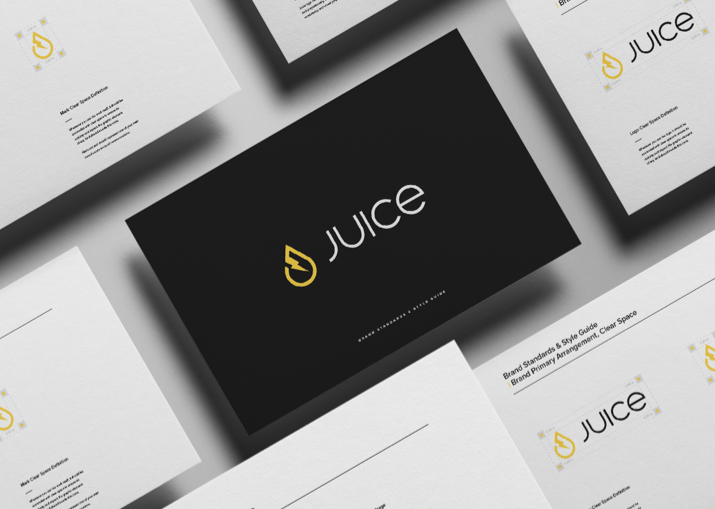 Assets from a branding and visual identity project