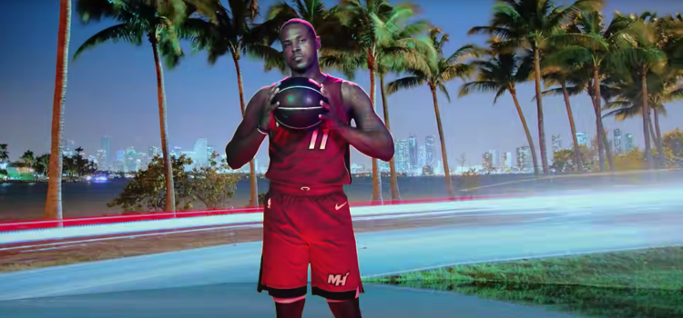 Video still from the Miami Heat 2019-2020 player intro video
