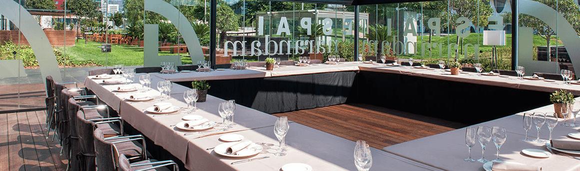 Fira Congress Hotel Event salon for the wine tasting eventl