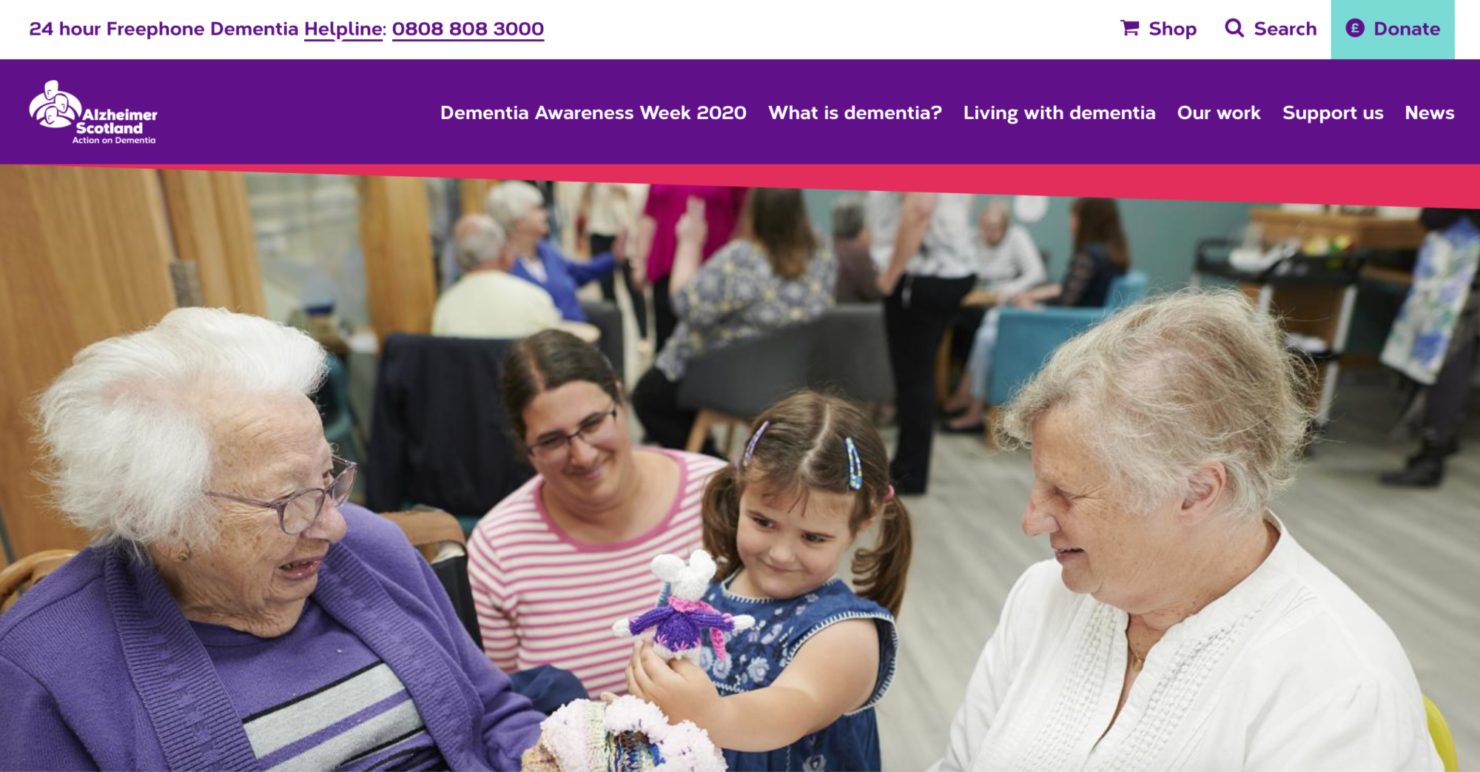 Alzheimer Scotland's website